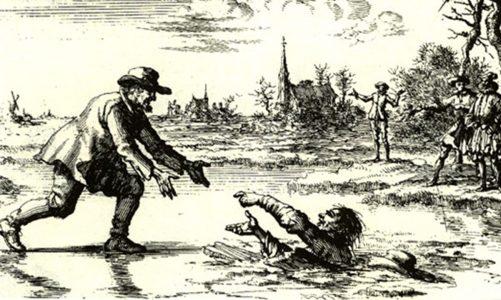 Анабаптиста Дърк Уилямс спасява своя преследвач